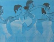 Schwanensee 2013 Acryl auf Leinwand 100 x 130 cm