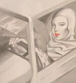 Hommage an Tamara de Lempicka Acryl auf Leinwand 50 x 40 cm