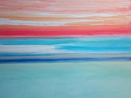 Nordlichter 2015 Acryl auf Leinwand 120 x 140 cm
