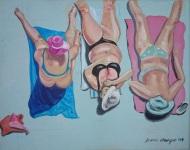 On the Beach 2014 Acryl auf Leinwand 24 x 30 cm