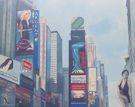 NY I 2010 Acryl auf Leinwand 80 x 100 cm