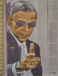 Barack Obama 2015 Acryl auf Leinwand 80 x 60 cm