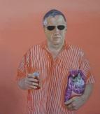 Porträt Franz Krahberger 2005. Öl auf Leinwand 80 x 70 cm