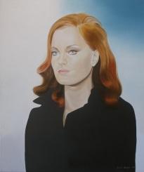 Porträt Romy Schneider. 1999 Öl auf Leinwand. 60 x 50 cm