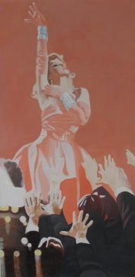Star 1993 Öl auf Leinwand 120 x 60 cm