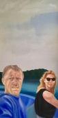 Bootsfahrt Acryl/Öl auf Leinwand 160 x 100 cm 1999